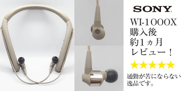 WI-1000X 購入1か月後レビュー ハイレゾじゃなくても音がいい理由