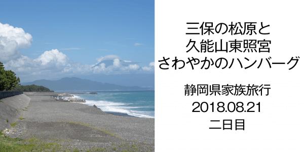 静岡県家族旅行二日目 三保の松原と久能山東照宮 さわやかのハンバーグ