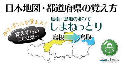 日本地図覚え方